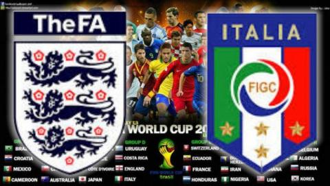 Partido del Mundial Inglaterra Italia