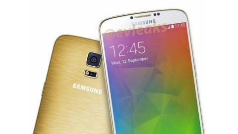 Filtrado render del Samsung Galaxy F con carcasa dorada.