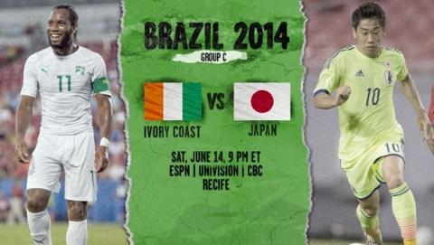 Cómo ver gratis partido del Mundial Costa de Marfil - Japón