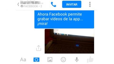 Vídeos en Facebook Messenger
