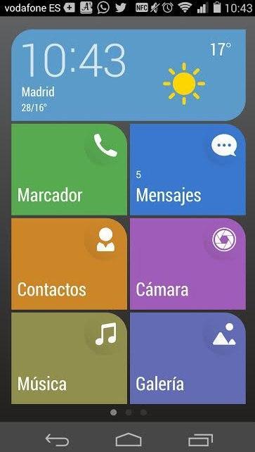 modo de pantalla simple ascend p7