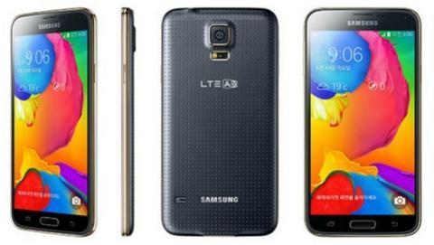Samsung anuncia el Samsung Galaxy S5 LTE-A con pantalla QHD, procesador Snapdragon 805, y 3 GB de RAM. Es el rumoreado Samsung Galaxy S5 Prime.