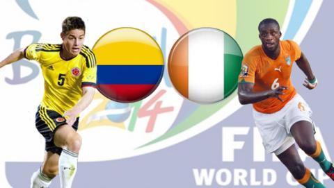 Colombia - Costa de Marfil - Mundial 2014