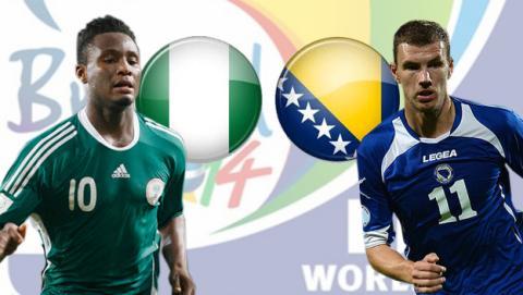 Mundial 2014:Nigeria - Bosnia Herzegovina