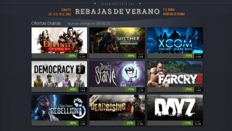 Comienzas las rebajas de verano de Steam, con descuentos de hasta el 80%, ofertas, coleccionismo y premios.