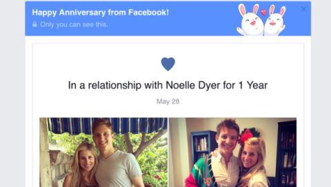 Aniversario en Facebook
