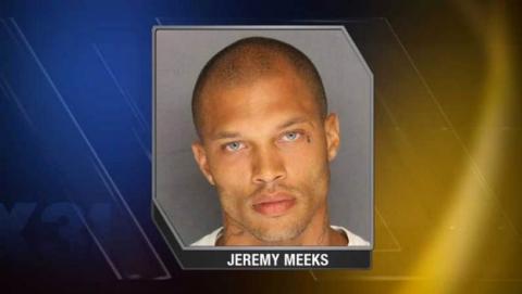 Jeremy Meeks, el preso más guapo con aspecto de modelo, fenómeno viral en Facebook gracias a los memes.