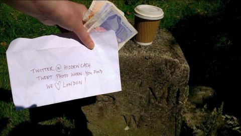 El Millonario de Twitter de @HiddenCash esconderá sobres con dinero en Madrid, el 3 de julio.