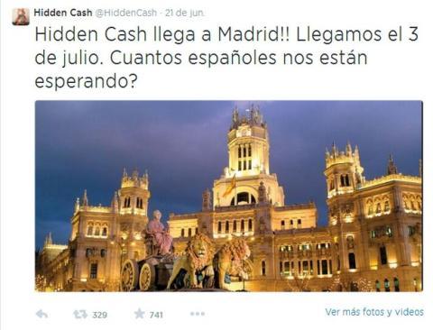 Millonario de @HiddenCash regalará dinero en Madrid el 3 de julio