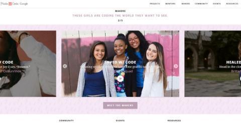 Campaña Made with Code, mujeres programadoras
