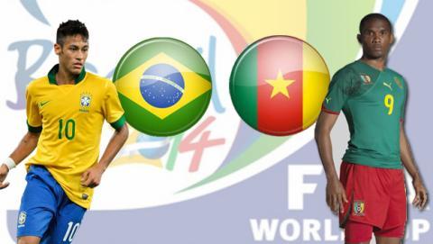 Brasil contra Camerún
