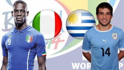 Italia contra Uruguay