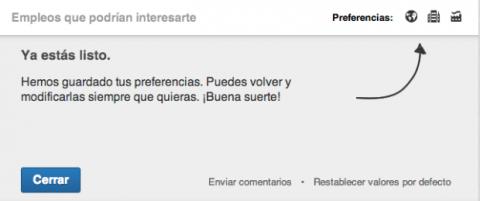 Preferencias LinkedIn