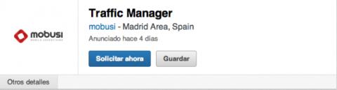 Solicitar puesto de trabajo LinkedIn