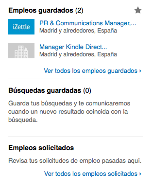 Empleo guardado LinkedIn