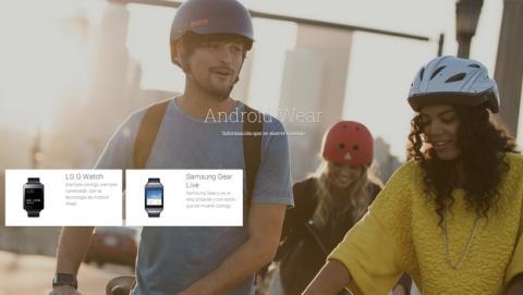Google Play abre una sección Android Wear, los smartwaches LG G Watch y Samsung Gear Live a la venta en España en julio por 199 €.