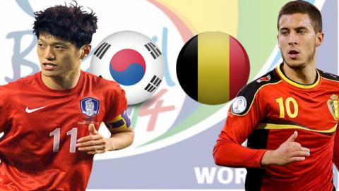 Corea del Sur contra Bélgica