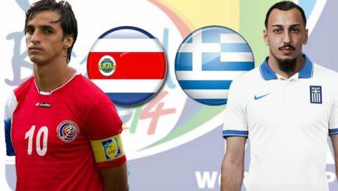 Costa Rica contra Grecia