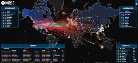 Norse Mapa Ataques Hacker
