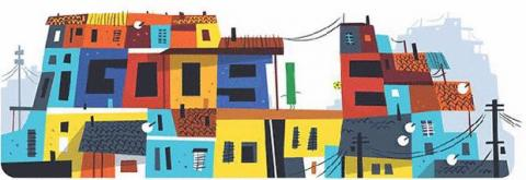 Doodle polémicas favelas