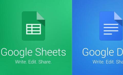 actualización google docs y sheets