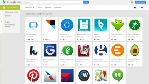 Google estrena la app de Android Wear y abre una sección de apps de Android Wear en Google Play.