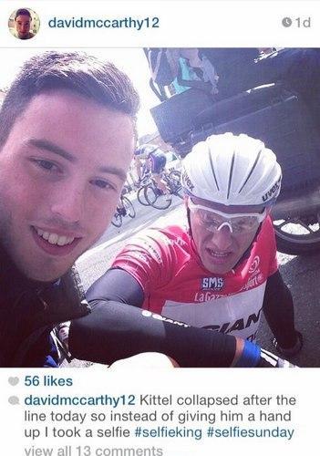 Selfies el terror de los ciclistas del Tour de Francia 2014