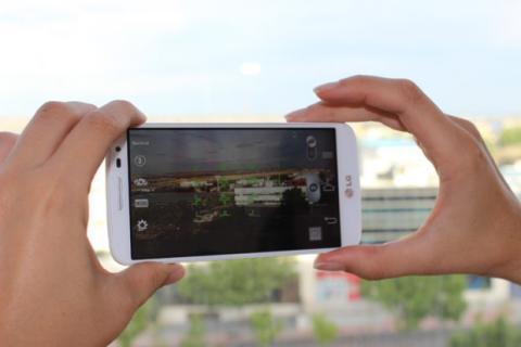 Sacando una foto con LG G2 Mini