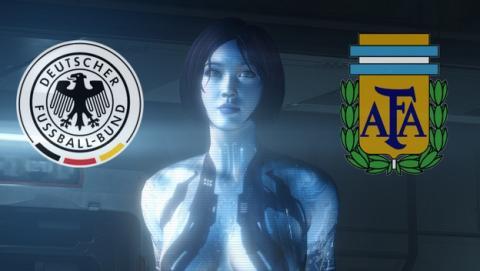 ¿Quién ganará la final del Mundial de Brasil 2014 entre Alemania y Argentina? Cortana ha hecho su pronóstico.