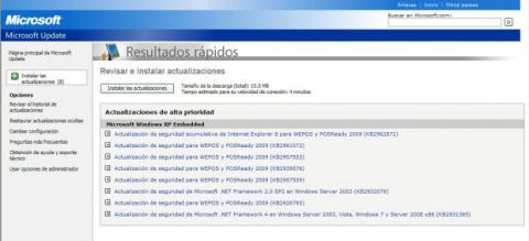 Actualizaciones Windows XP