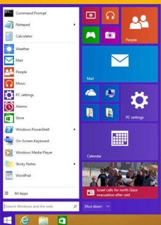 Botón Inicio Windows 9