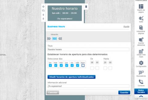 Configura tu página de contacto con 1&1 Mi Web