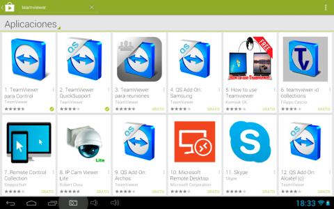 Instala TeamViewer QuickSupport en el smartphone o tablet
