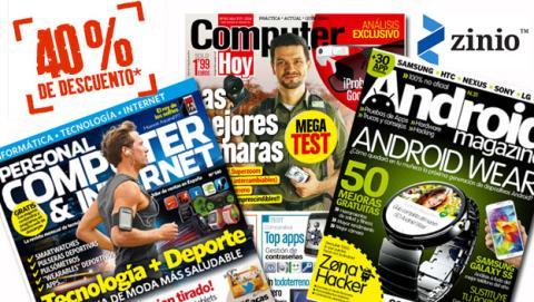 Tus revistas de tecnología con un 40% de descuento en Zinio