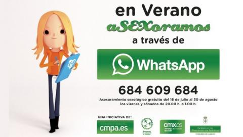 El Consejo de la Juventud del Principado de Asturias ha puesto en marcha la campaña En Verano aSEXoramos por WhatsApp, un consultorio sexual por WhatsApp, enfocado a los jóvenes.