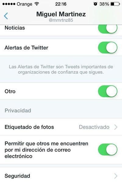 Notificaciones de Twitter en Android