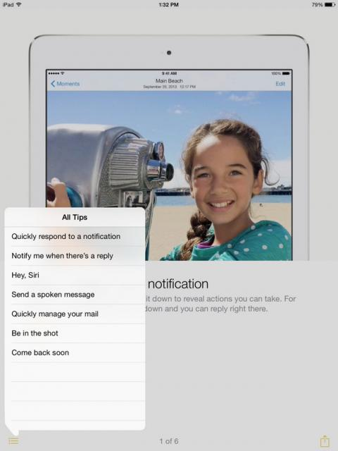 Tips, nueva app de iOS 8