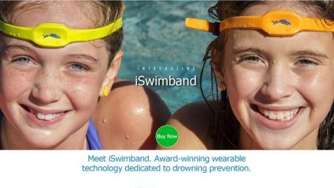 iSwimband, la pulsera wearable que te avisa si un niño se ahoga en el agua, en la piscina o la playa.