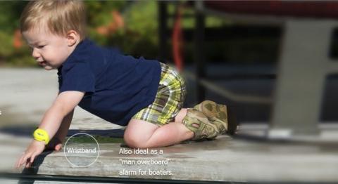 iSwimband, la pulsera para impedir que los niños se ahoguen en la piscina o la playa