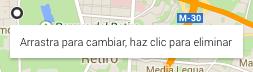 Dibujar la ruta en Google Maps