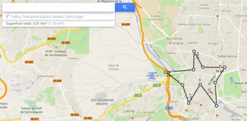 Medir distancias en Google Maps