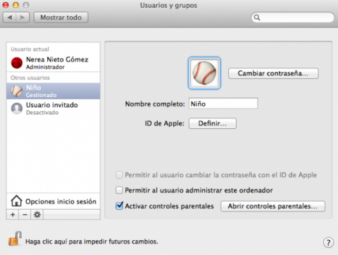 Control parental en Mac