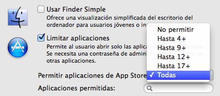 Limitar aplicaciones de la App Store en Mac