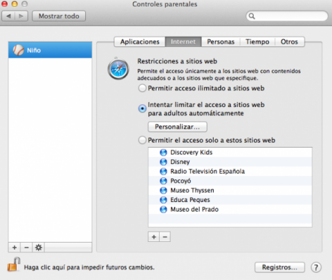 Limitar uso de Internet en Mac