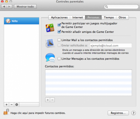 Control de personas en Mac