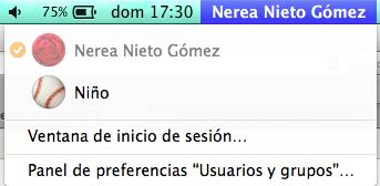 Cambiar de usuario en Mac