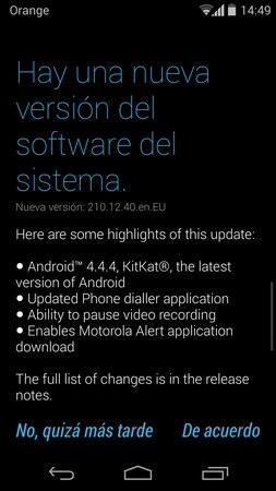 Actualización Moto G Android 4.4.4 KitKat