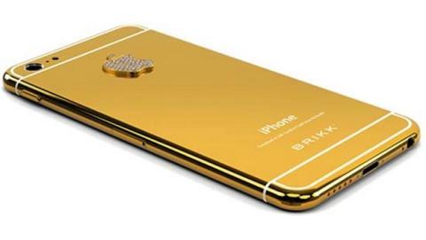 La joyería Brikk anuncia su Lux iPhone 6 con carcasa de oro de 24 kilates, platino y diamantes.