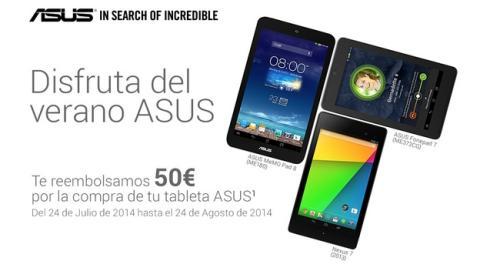 ASUS te reembolsa 50 € al comprar la Nexus 7 u otras tablets.