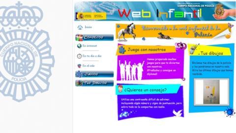 Web infantil de la Policía Nacional, para que los niños jueguen seguros.